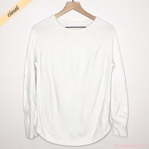 [Athleta] White Honeycomb Raglan Thermal Shirt